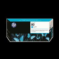 HP Nr. 80 Druckkopf und Reiniger cyan