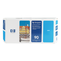 HP Nr. 90 Druckkopf und Reiniger cyan