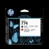 HP Nr. 774 DesignJet Druckkopf Mattschwarz/chromatisches Rot
