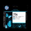 HP Nr. 774 DesignJet Druckkopf Mattschwarz/Cyan